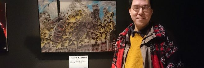 広島ゴジラ展では金谷のイラストを展示。